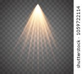 rays of light isolated on... | Shutterstock .eps vector #1059722114