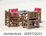 bamboo table and chairs in... | Shutterstock . vector #1059723221