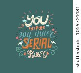 funny hand drawn vector... | Shutterstock .eps vector #1059724481