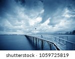 calm sea and cruise ship in the ... | Shutterstock . vector #1059725819