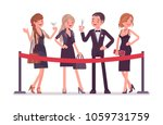 cutting the red ribbon ceremony.... | Shutterstock .eps vector #1059731759