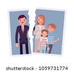 family breakup problem. a photo ... | Shutterstock .eps vector #1059731774