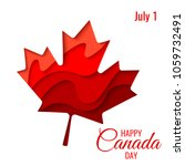 happy canada day vector holiday ... | Shutterstock .eps vector #1059732491