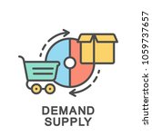 icon demand supply. the diagram ... | Shutterstock .eps vector #1059737657