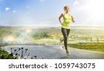 young fitness woman runner... | Shutterstock . vector #1059743075