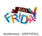 black friday. vector... | Shutterstock .eps vector #1059745511