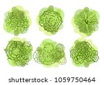trees top view for landscape... | Shutterstock .eps vector #1059750464