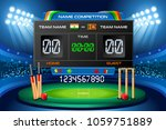 cricket background with... | Shutterstock . vector #1059751889