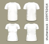man and woman sport t shirt... | Shutterstock .eps vector #1059752414