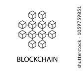 blockchain vector icon or...   Shutterstock .eps vector #1059759851