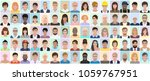 Stock vector many different people portrait vector illustration 1059767951