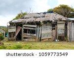 wooden house ruin    wood cabin ... | Shutterstock . vector #1059773549