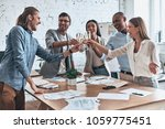 to our team  group of young... | Shutterstock . vector #1059775451