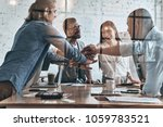 successful team. diverse group... | Shutterstock . vector #1059783521