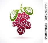 decorative ornamental cranberry ... | Shutterstock .eps vector #1059783944