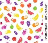 assorted fruits seamless... | Shutterstock .eps vector #1059785834