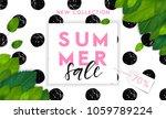 summer fashion stylish sale... | Shutterstock .eps vector #1059789224