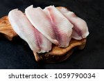 fresh fish fillet on the... | Shutterstock . vector #1059790034