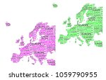 sketch europe letter text... | Shutterstock .eps vector #1059790955