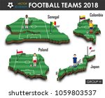 national soccer teams group h . ... | Shutterstock .eps vector #1059803537