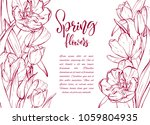 floral background. hand drawn... | Shutterstock .eps vector #1059804935