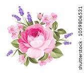 spring flowers bouquet of color ... | Shutterstock .eps vector #1059806531