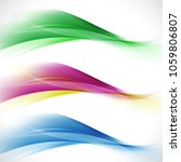 abstract elegant colorful wave... | Shutterstock .eps vector #1059806807