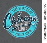 chicago tee shirt design  ...   Shutterstock .eps vector #1059808727
