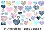 hearts doodles set. valentines... | Shutterstock .eps vector #1059810665