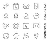 contacts vector icons set... | Shutterstock .eps vector #1059812561