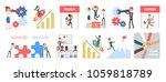 business people set. startup... | Shutterstock .eps vector #1059818789