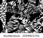 grunge pattern. abstract design.... | Shutterstock .eps vector #1059821741