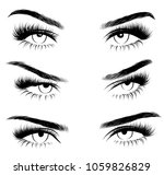 hollow style illustration set...   Shutterstock .eps vector #1059826829