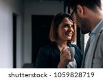 romance in the office. | Shutterstock . vector #1059828719