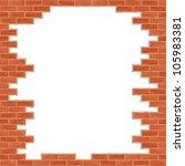 Broken Brick Wall  Vector Eps1...