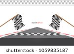 checkered racing flag isolated... | Shutterstock .eps vector #1059835187