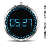 Digital Timer  Vector Eps10...