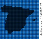 dotted pixel spain map. vector... | Shutterstock .eps vector #1059836189