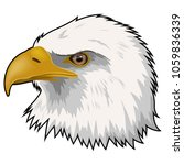 mascot head of eagle isolated... | Shutterstock .eps vector #1059836339