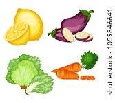 cartoon illustration of tasty... | Shutterstock .eps vector #1059846641