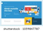 creative website template... | Shutterstock .eps vector #1059847787