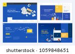 set of creative website... | Shutterstock .eps vector #1059848651
