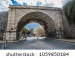 The gate of chanioporta on the fortification of Heraklion city on the island of Crete, Greece