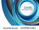 spiral swirl flowing lines 3d... | Shutterstock .eps vector #1059851981