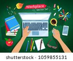top view vector illustrations... | Shutterstock .eps vector #1059855131