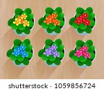 top view vector collection of... | Shutterstock .eps vector #1059856724