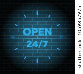 24 7 service open 24h hours a... | Shutterstock .eps vector #1059857975