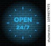 24 7 service open 24h hours a... | Shutterstock .eps vector #1059857975