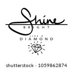 shine bright like a diamond... | Shutterstock .eps vector #1059862874