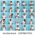 the collage of different human... | Shutterstock . vector #1059867431